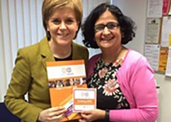 First Minister, Nicola Sturgeon, Endorses Happy to Translate