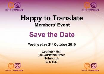 Happy to Translate Members' Event 2019